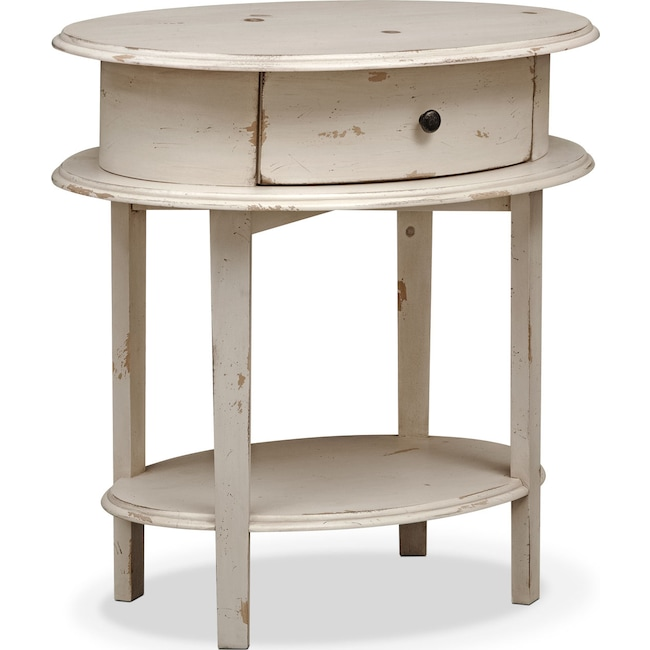 Bedroom Furniture - Cole End Table - White