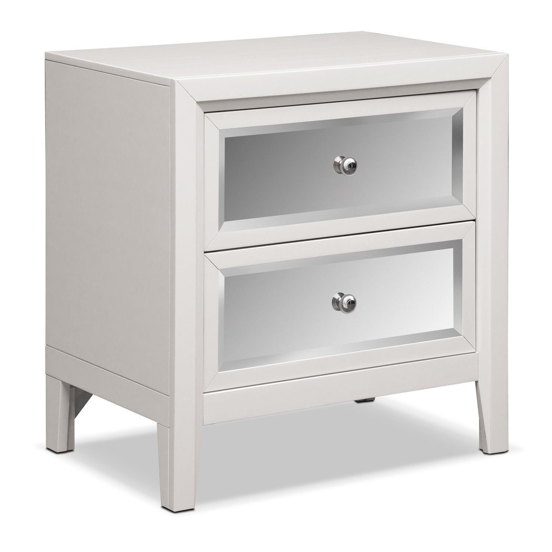 Bonita Nightstand White