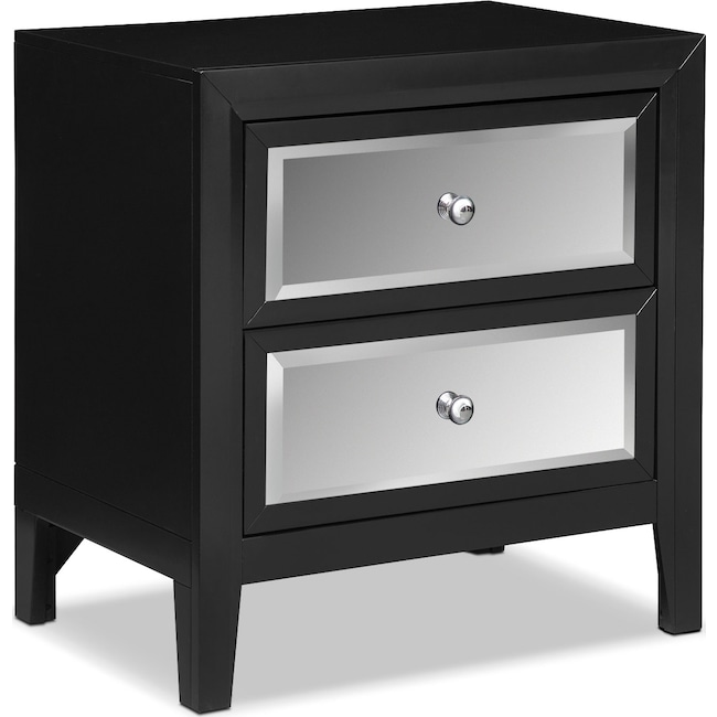 Bedroom Furniture - Bonita Nightstand - Black
