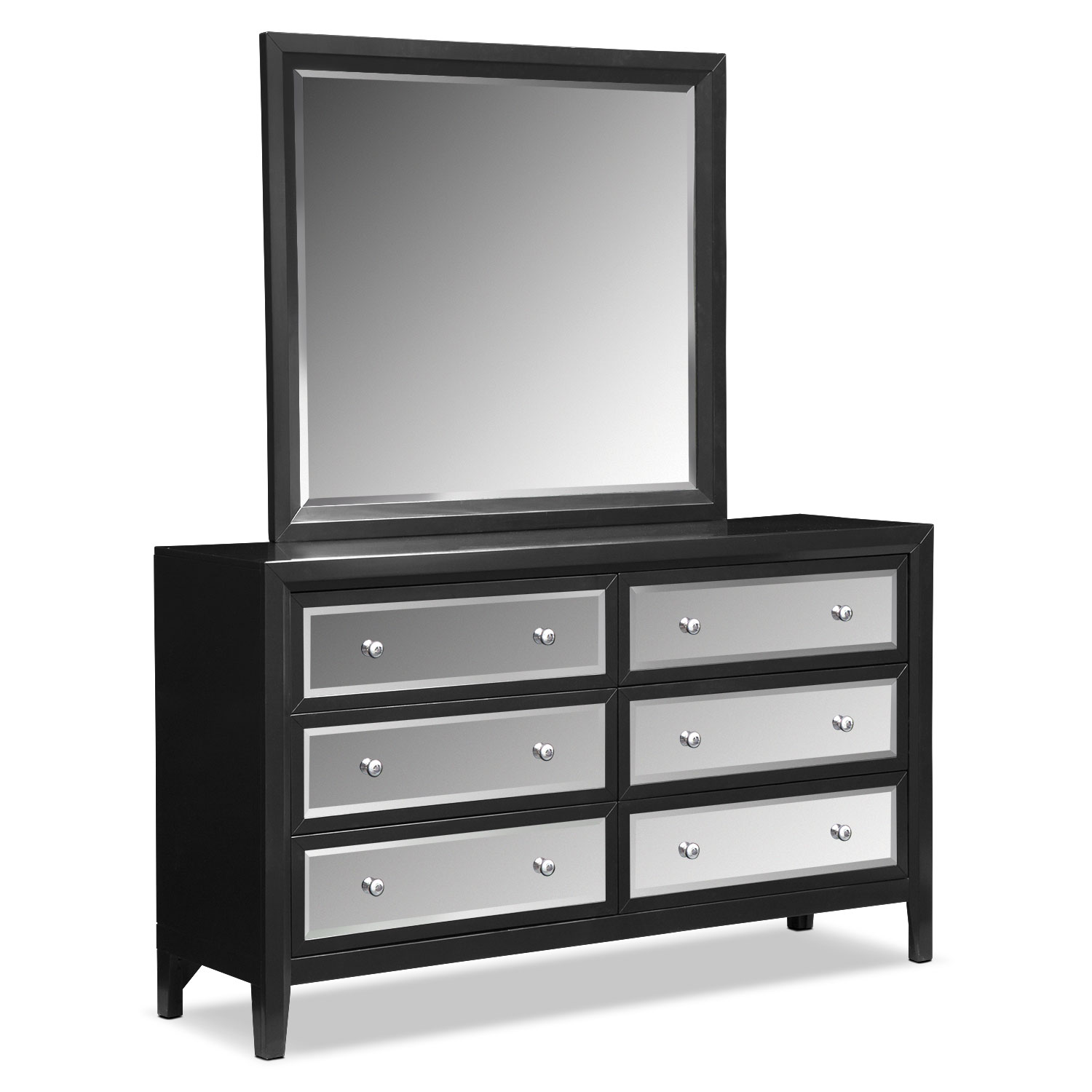 Bonita Dresser And Mirror Black Value City Furniture