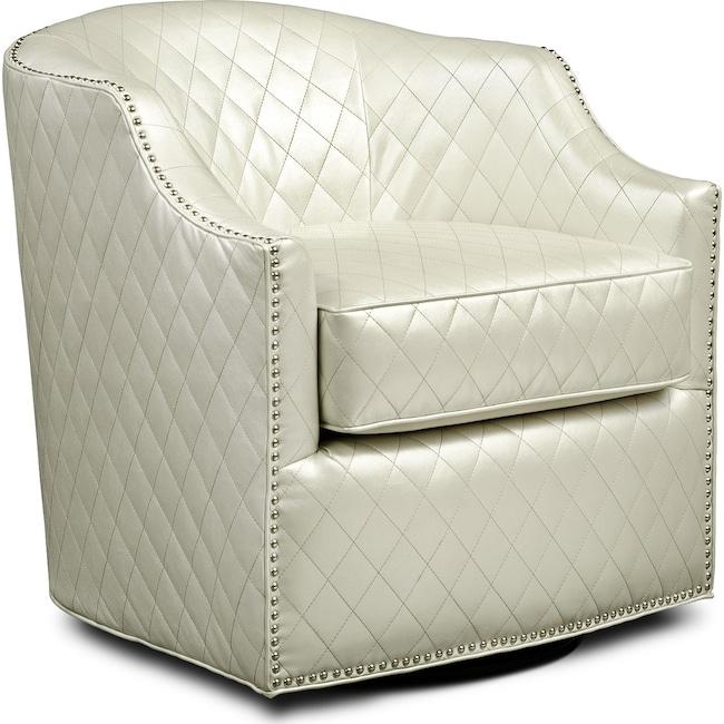 Bedroom Furniture - Roxie Swivel Chair - Pearl