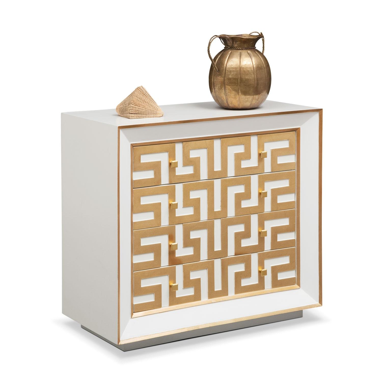 Bedroom Furniture - Halston Bachelor Chest - Gold