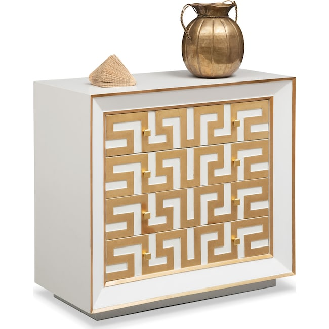 Accent and Occasional Furniture - Halston Bachelor Chest - Gold