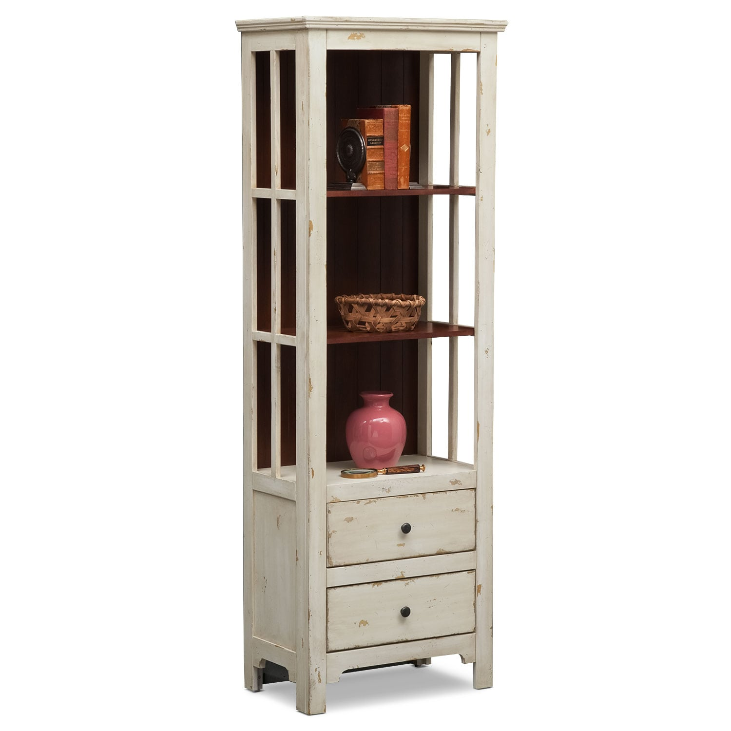 [Keefe Bookcase - White]