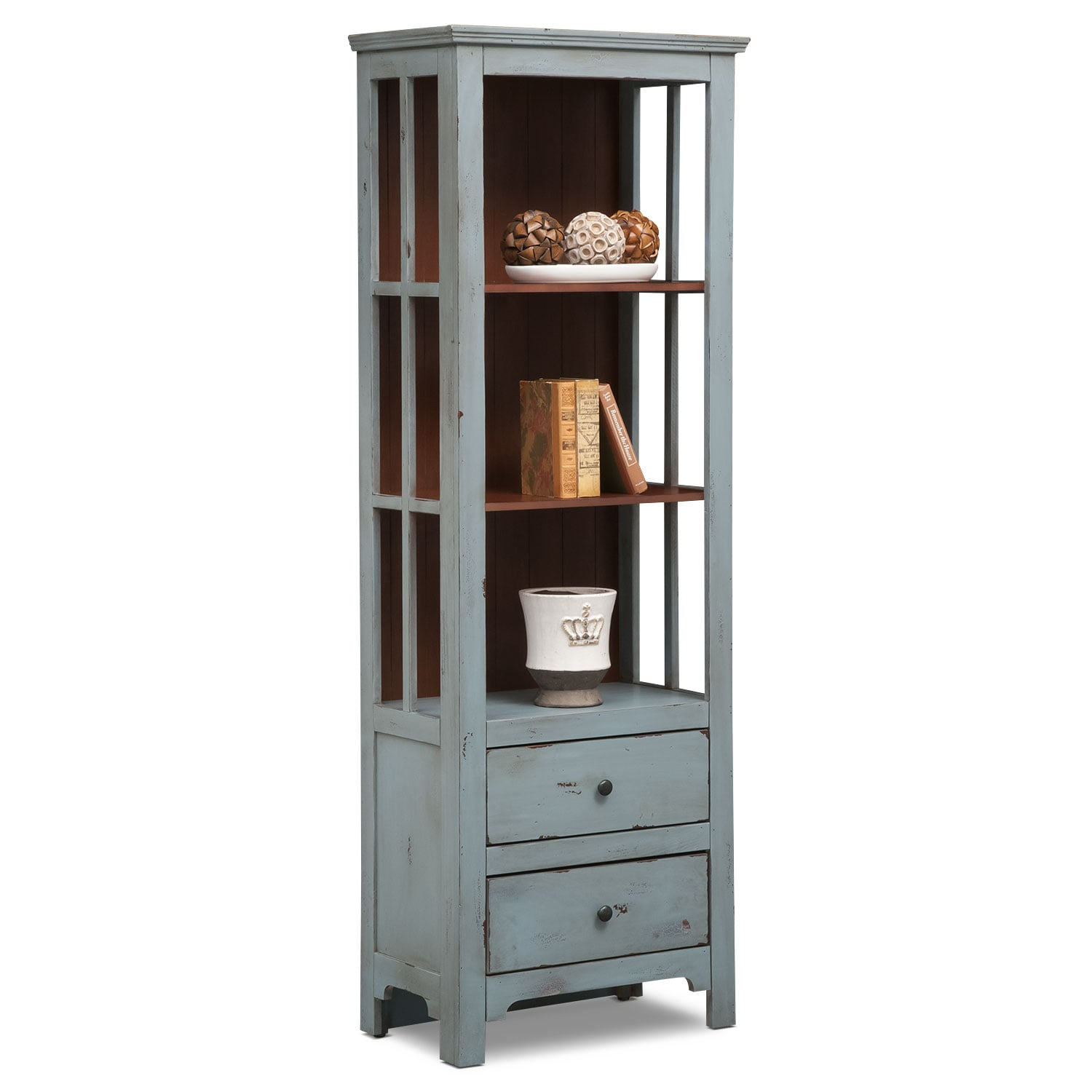[Keefe Bookcase - Blue]