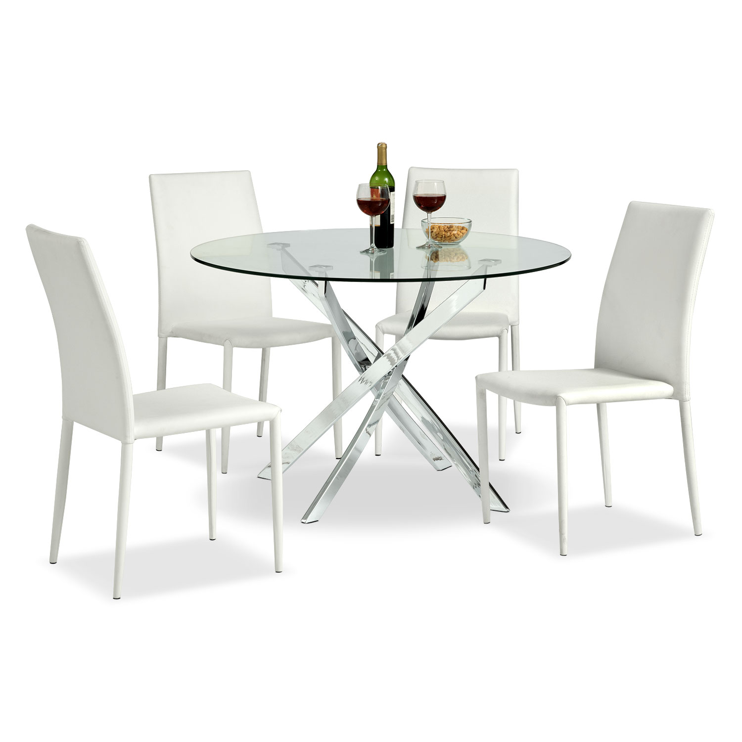 Dining Room Furniture - Quattro 5 Pc. Dinette - White