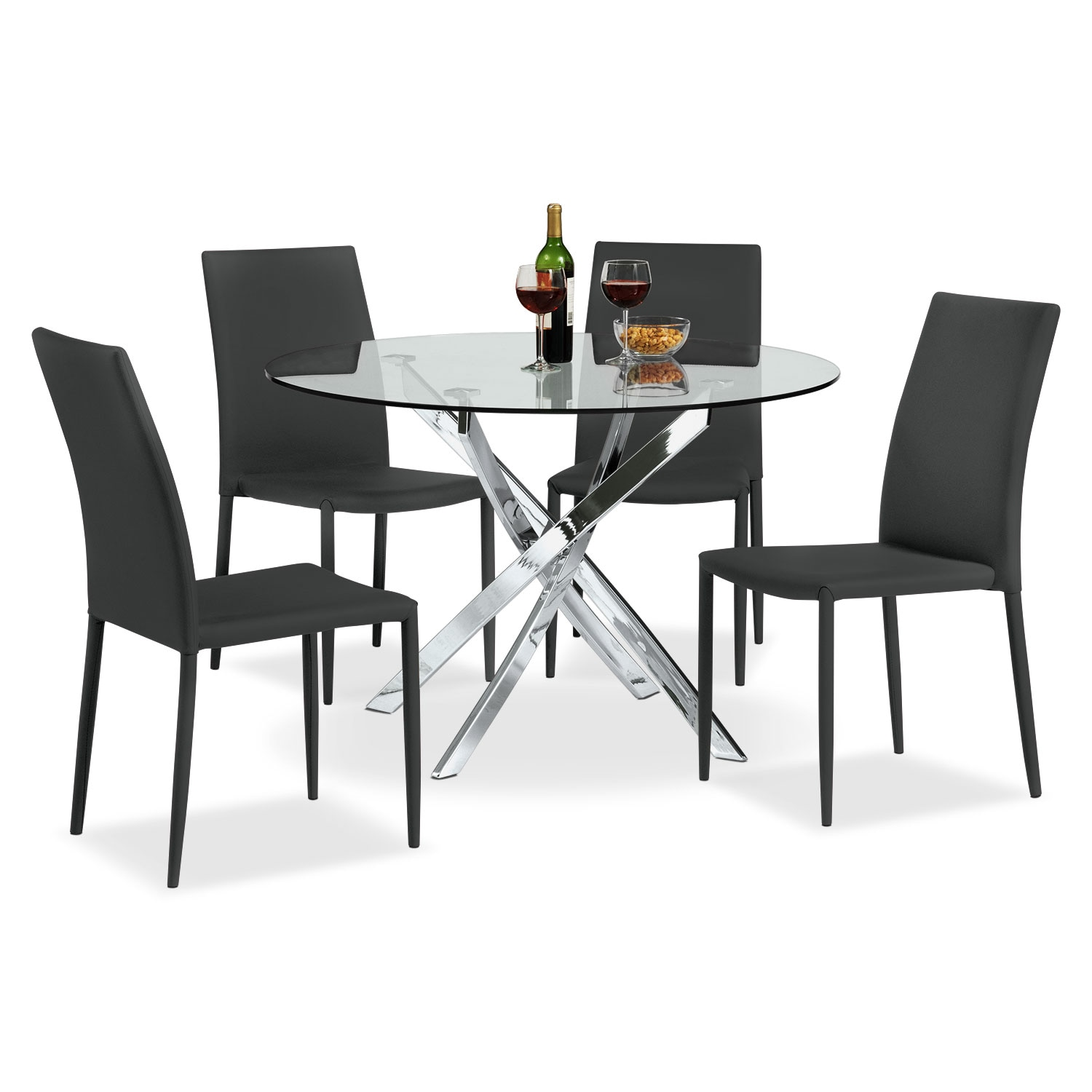 Quattro 5 Pc. Dinette - Black