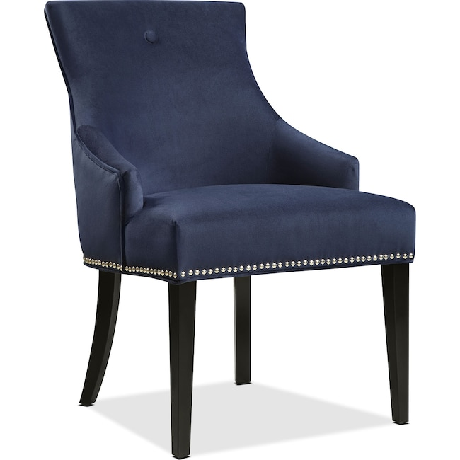 Accent and Occasional Furniture - Welch Side Chair - Blue