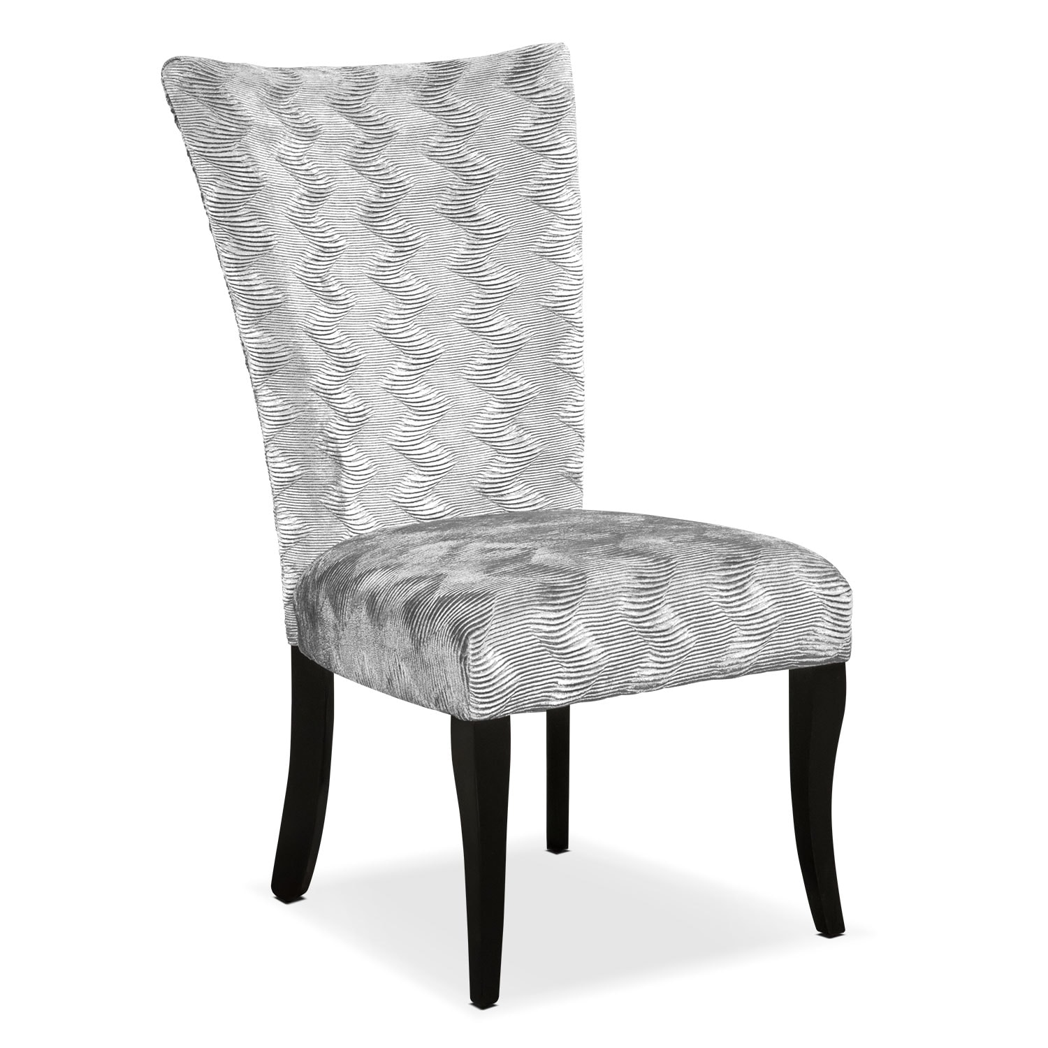 Vibrato Side Chair - Silver