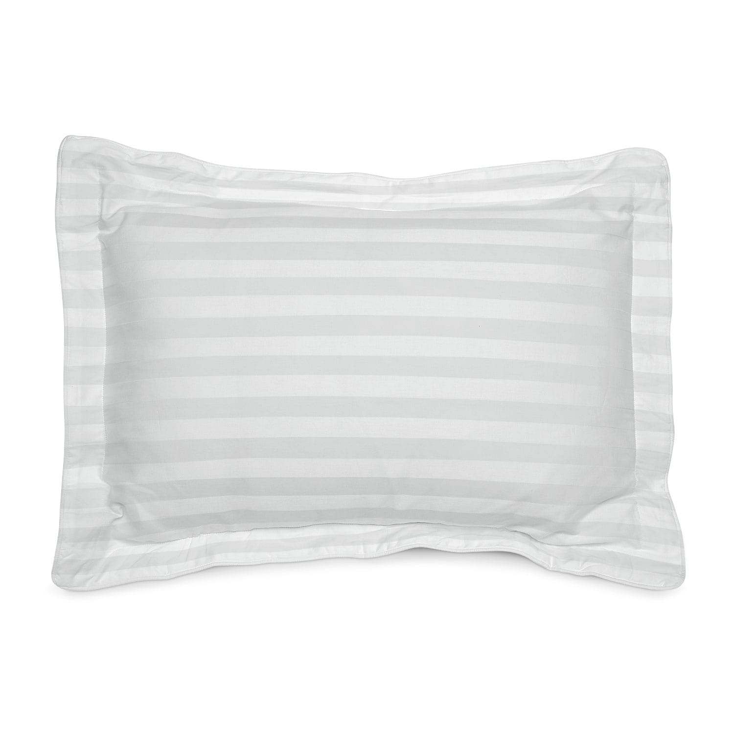 [Dobby Striped Queen Sham Set - White]