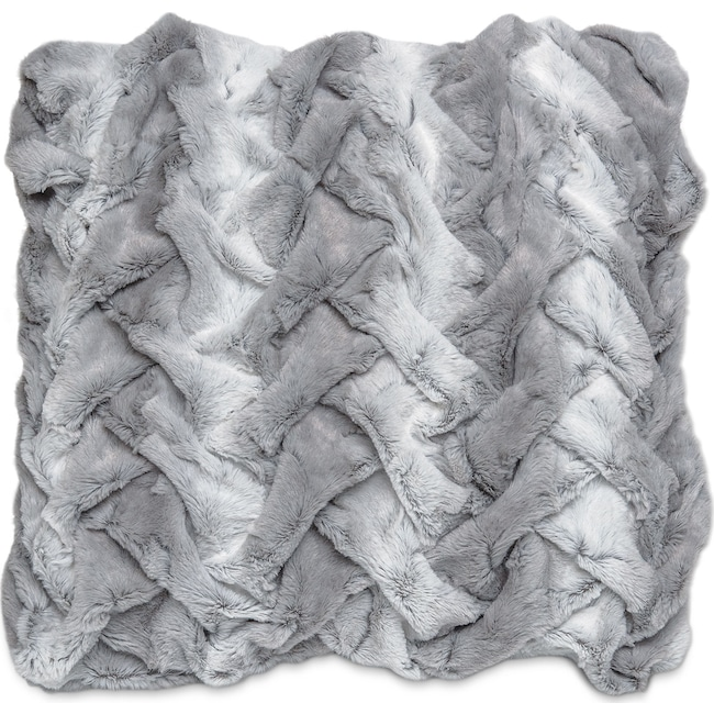 Accent and Occasional Furniture - Dobby Decorative Pillow - Silver