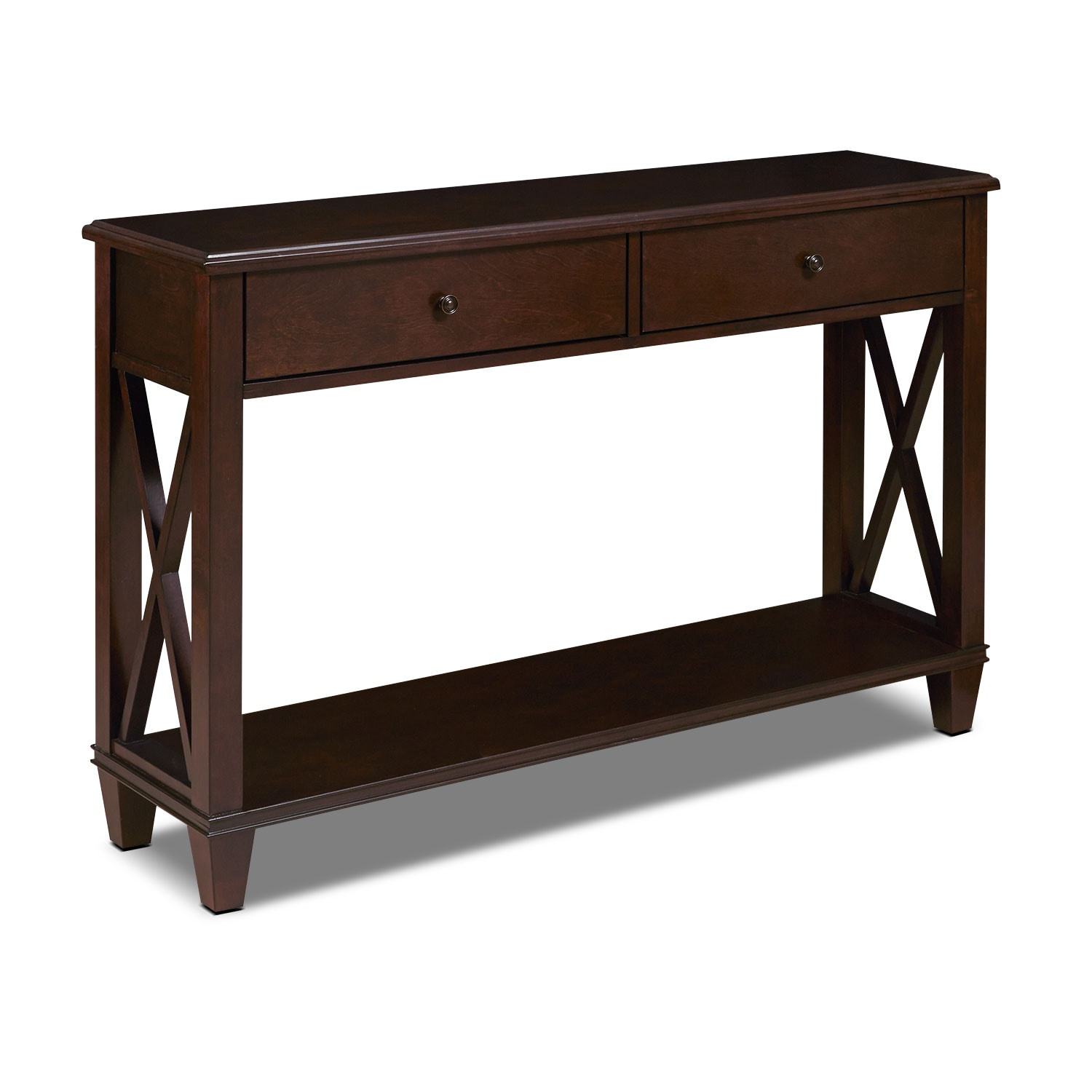 Accent and Occasional Furniture - Gregory Console Table - Cherry