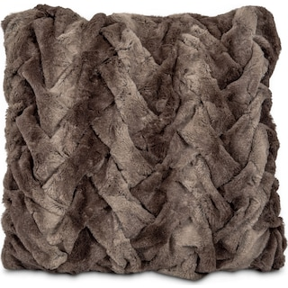 Faux Fur Decorative Pillow - Chocolate