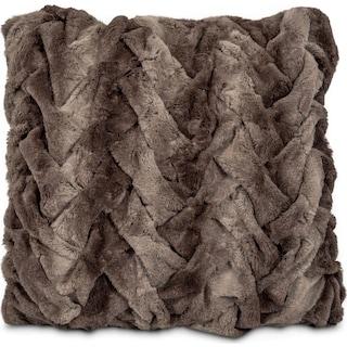 Faux Fur Decorative Pillow - Chocolate