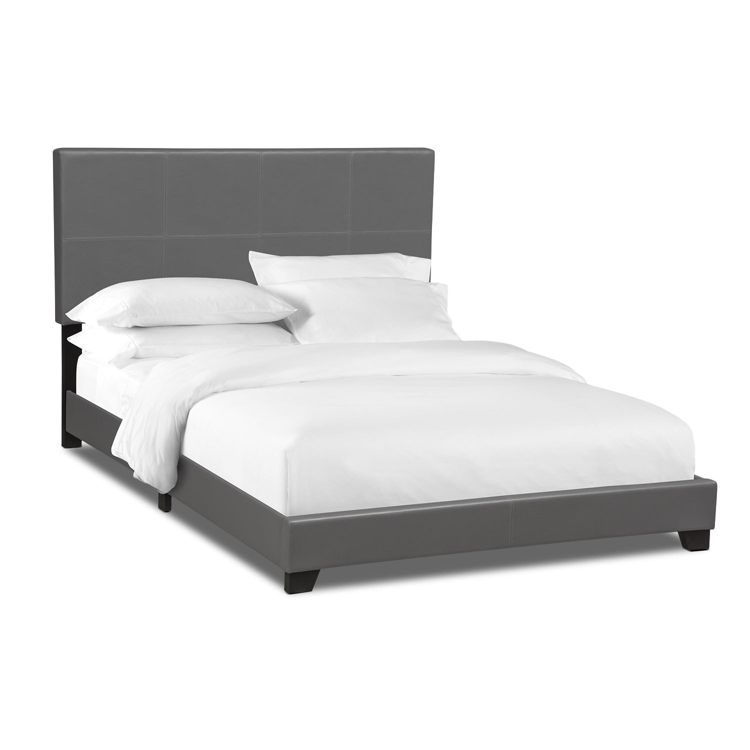 Loft Queen Upholstered Bed - Gray
