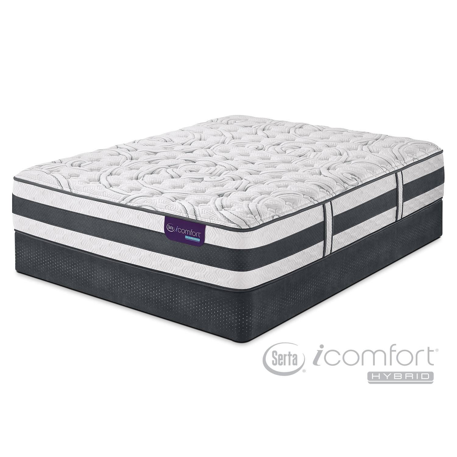 Applause II Firm California King Mattress/Split Foundation Set