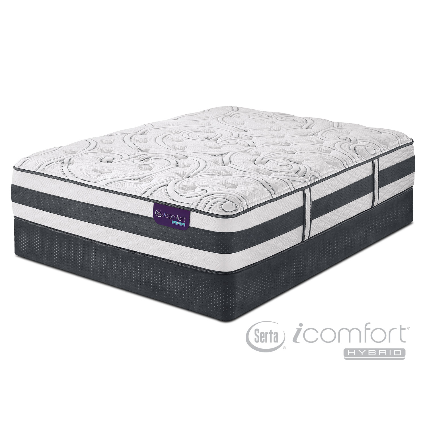 Mattresses and Bedding - Applause II Plush Full Mattress/Low-Profile Foundation Set