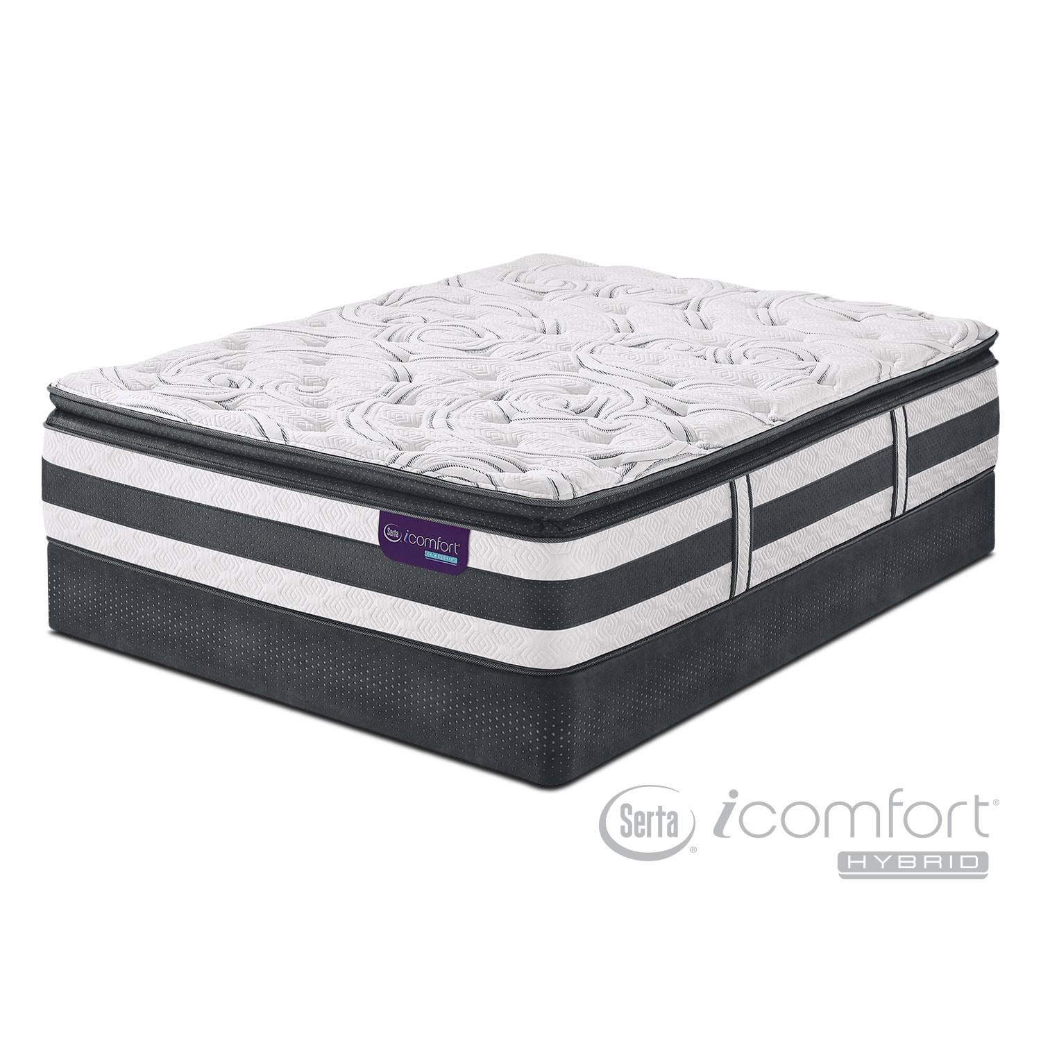 Mattresses and Bedding - Observer King Mattress/Split Low-Profile Foundation Set