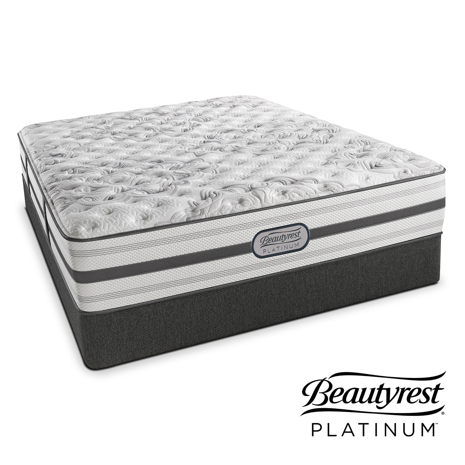 Mattresses and Bedding - Helena Extra-Firm Queen Mattress and Low-Profile Foundation Set