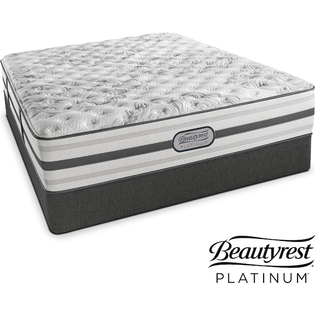 Mattresses and Bedding - Helena Extra-Firm King Mattress and Split Low-Profile Foundation Set