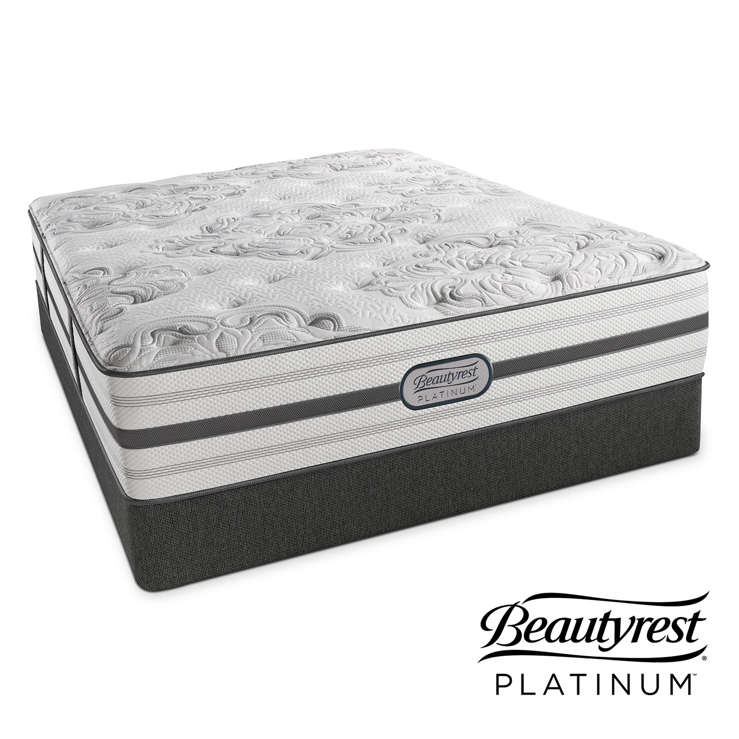 Alexandria Luxury Firm Queen Mattress and Foundation Set