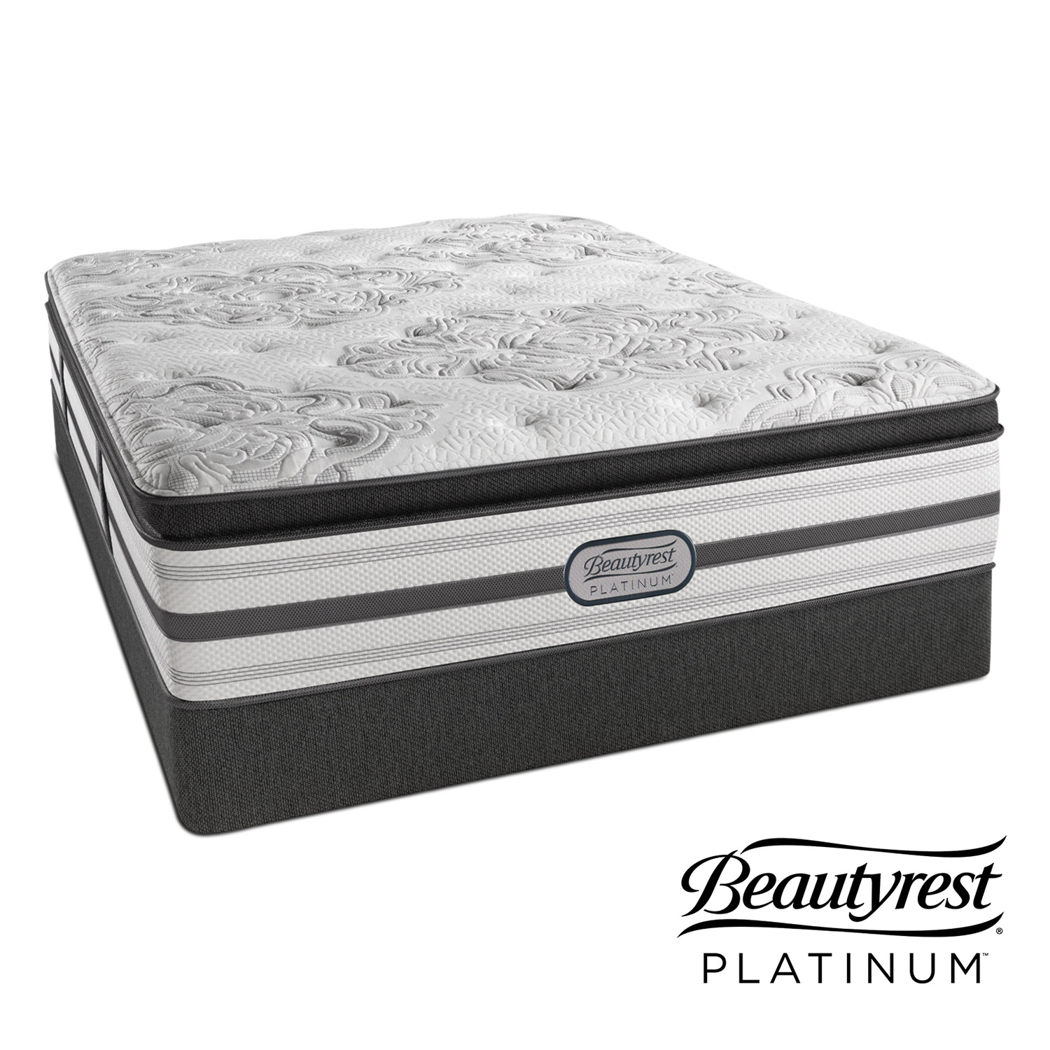 Mattresses and Bedding - Genevieve Plush King Mattress and Split Low-Profile Foundation Set