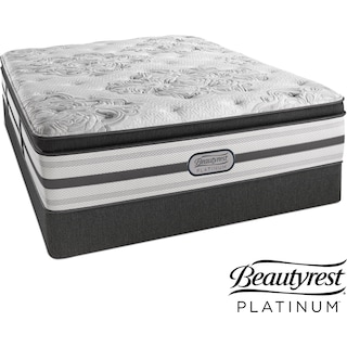 Genevieve Plush California King Mattress and Split Foundation Set