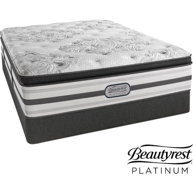 Mattresses and Bedding - Genevieve Plush Queen Mattress and Low-Profile Foundation Set