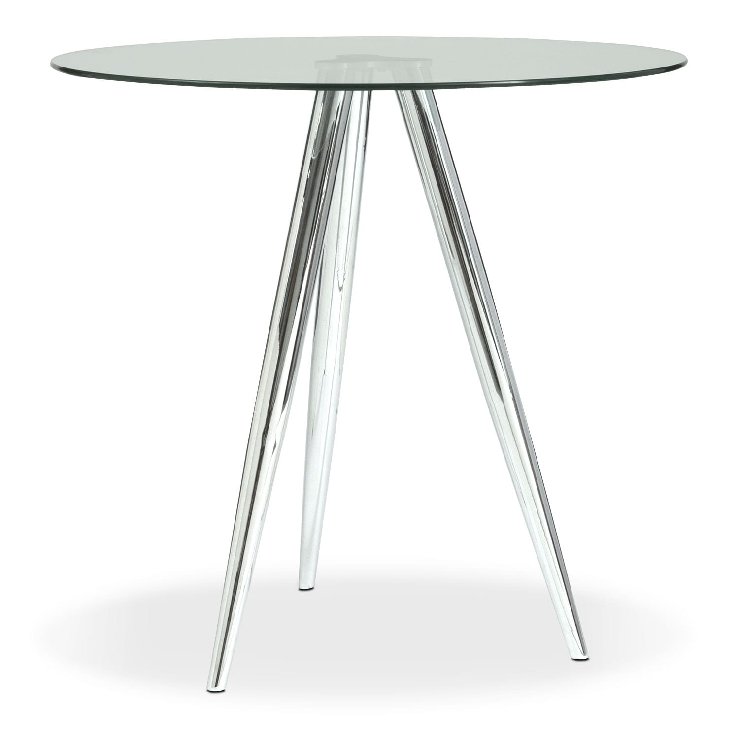 [Metropolitan Bistro Table - Chrome]
