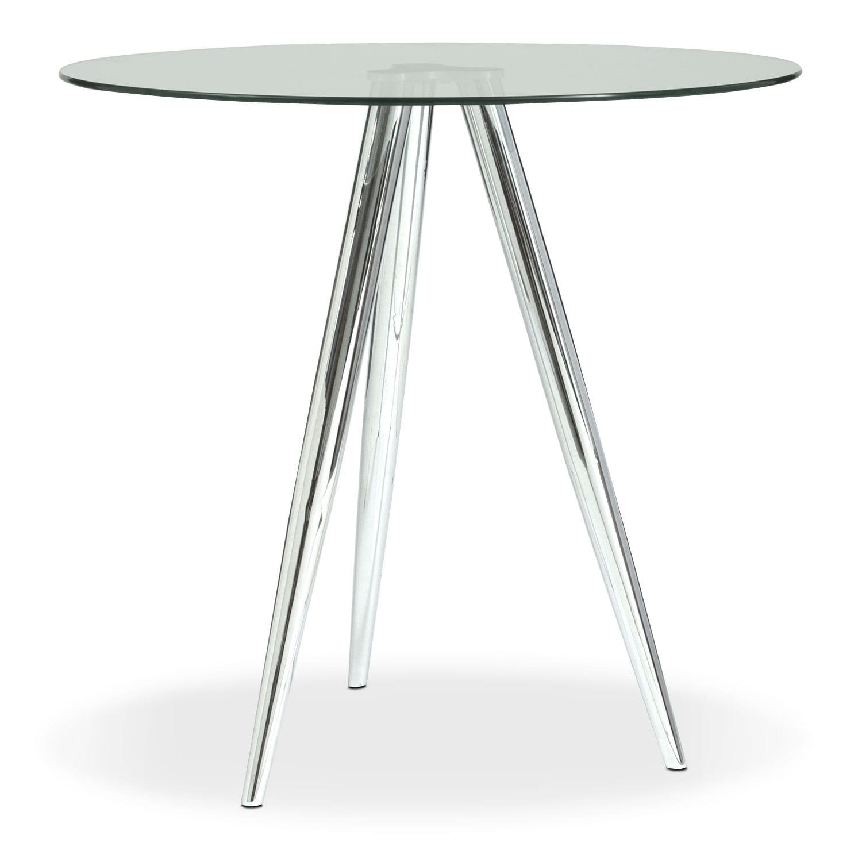 Dining Room Furniture - Metropolitan Bistro Table - Chrome