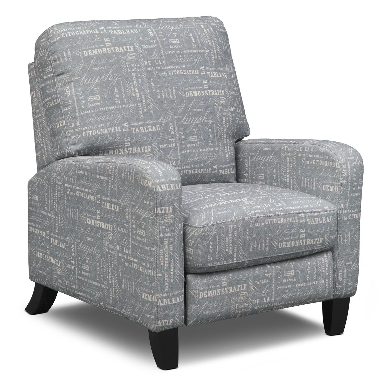 Living Room Furniture - Charlton Push-Back Recliner - Gray