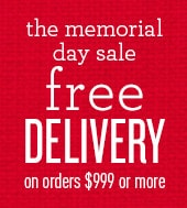 free delivery on Orders of $999 or more