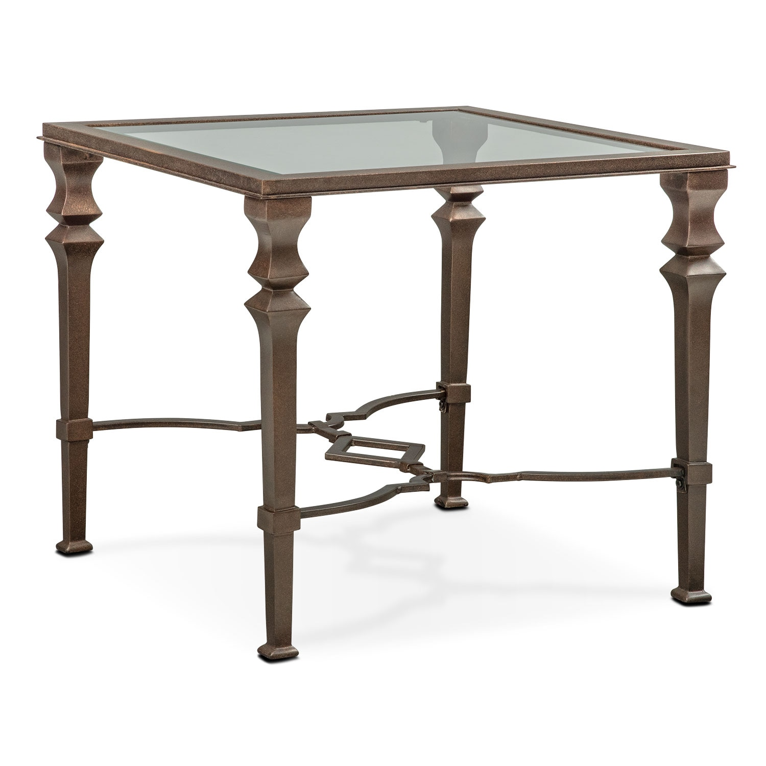 venue end table   bronze. Value City Furniture   Canton  OH 44720