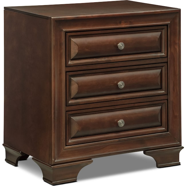 Bedroom Furniture - Sanibelle Nightstand - Mahogany