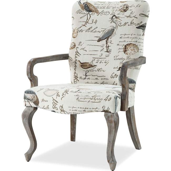 Living Room Furniture - Camden Accent Chair - Cream