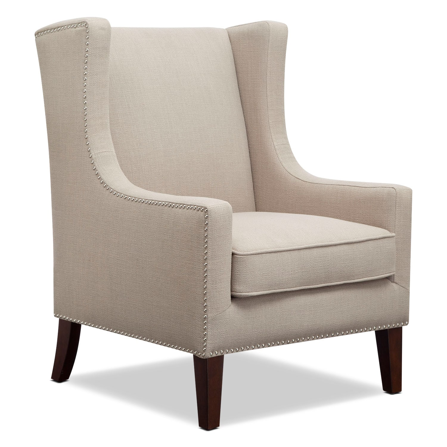 mesmerizing living room accent chair | Blythe Accent Chair - Linen | Value City Furniture and ...