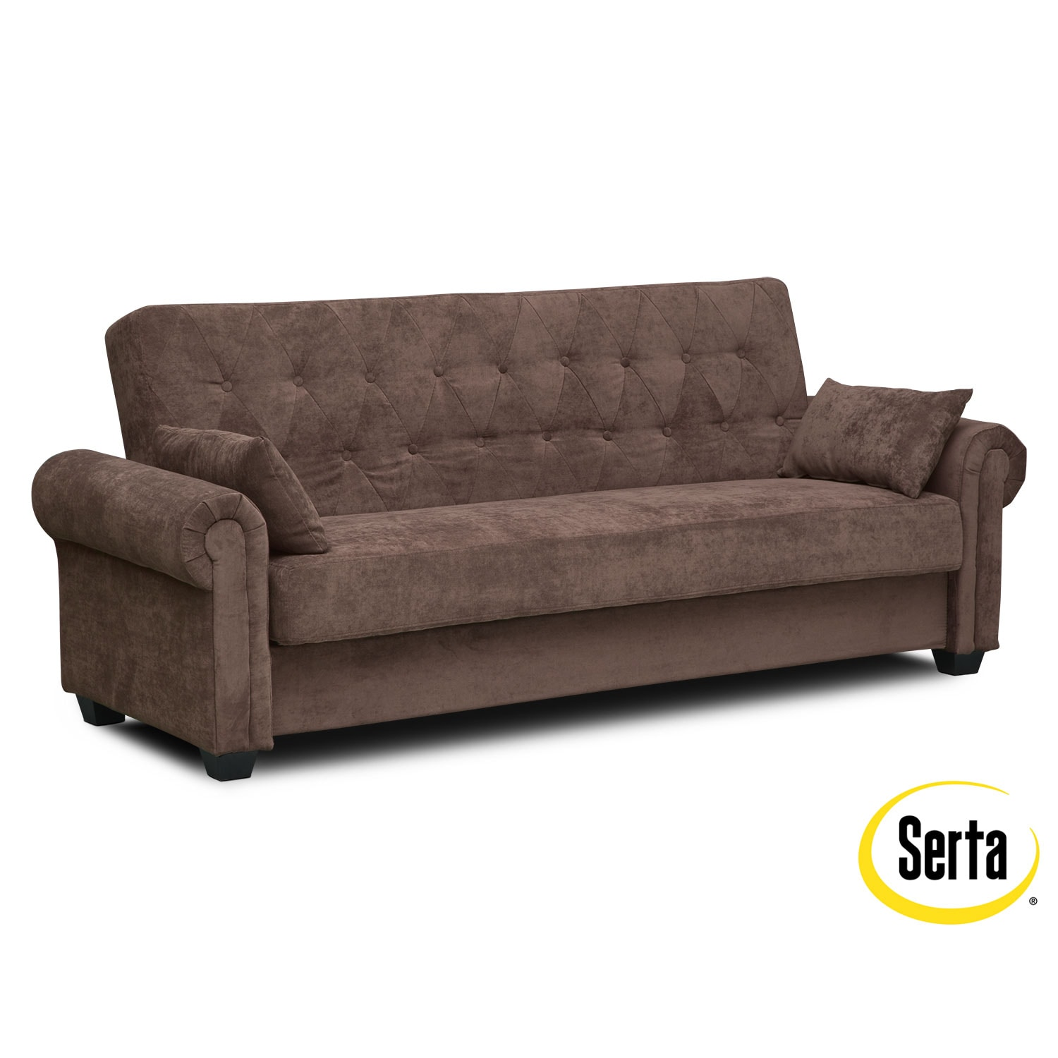 Living Room Furniture - Andrea Futon Sofa Bed with Storage - Java