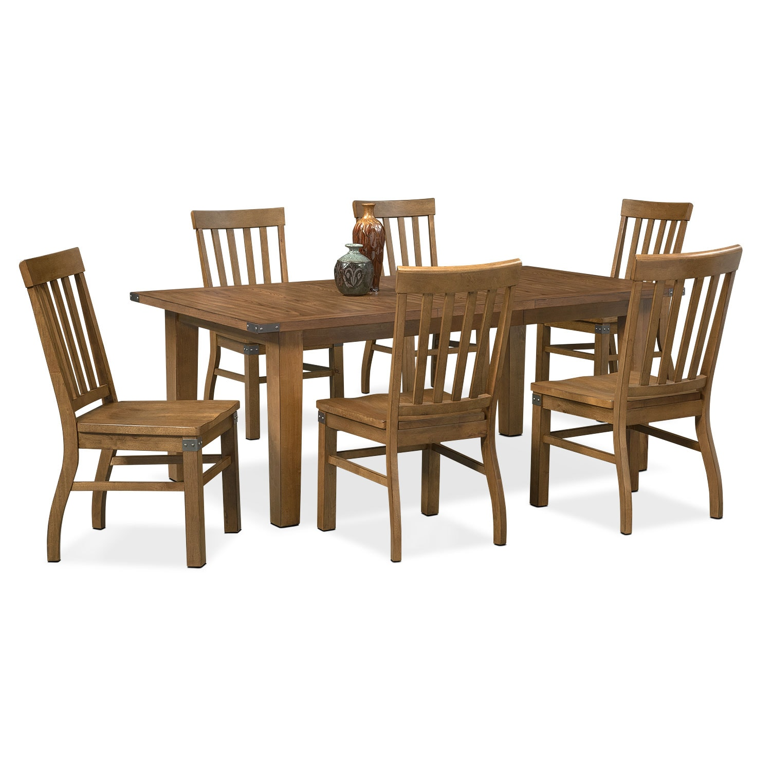 Salem 7-Piece Dinette Set - Pecan