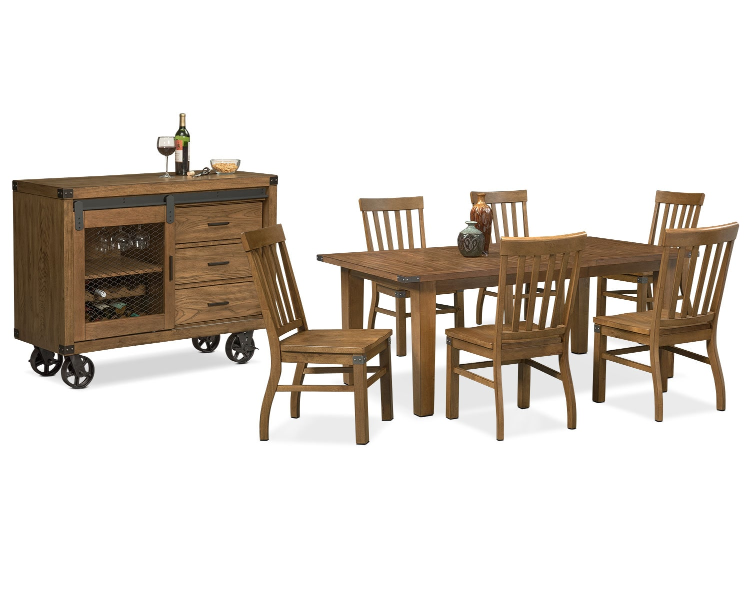 The Salem Dining Collection - Pecan