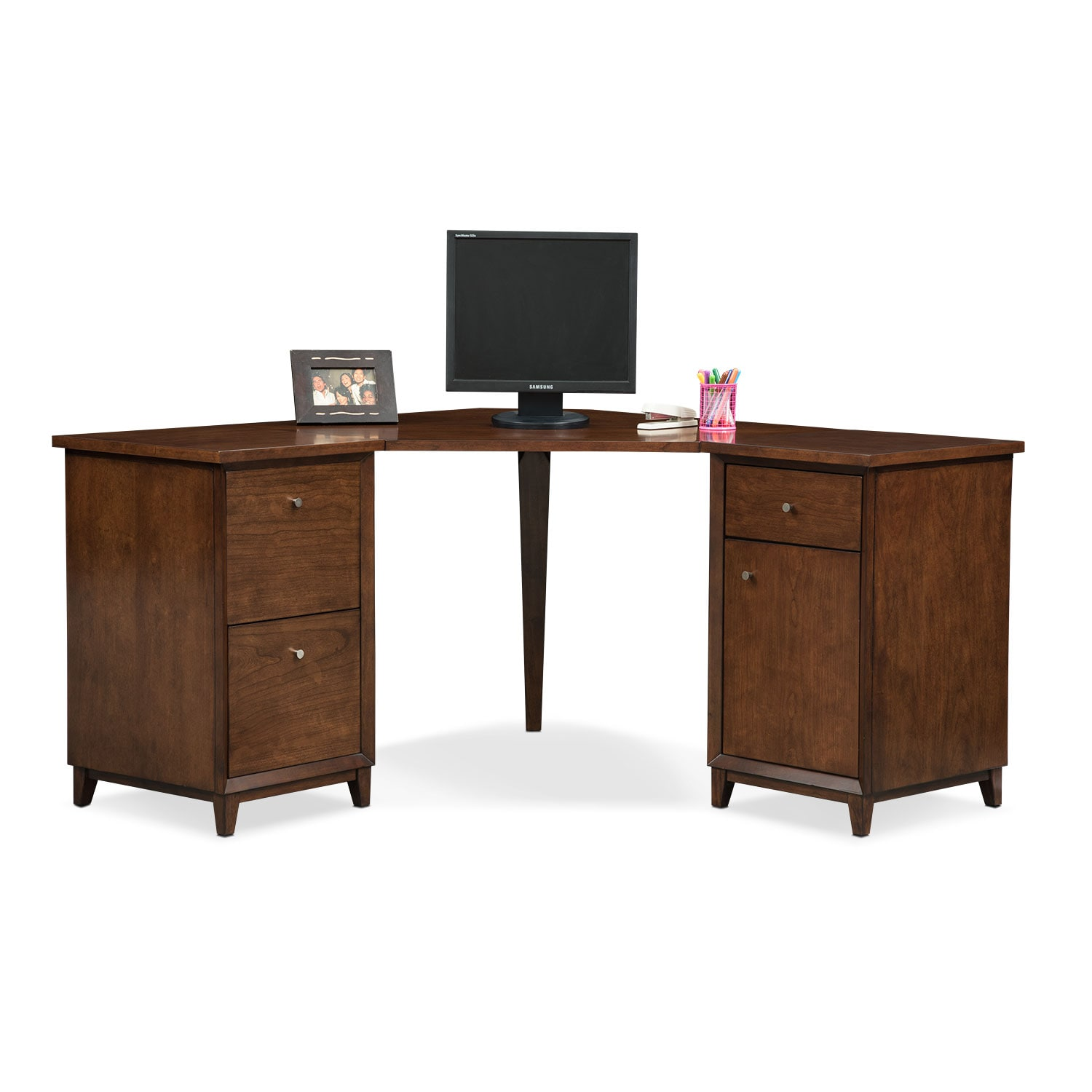Home Office Furniture - Oslo Corner Desk - Cherry