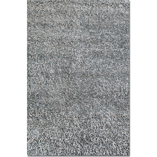 Lifestyle Steel Shag Area Rug (8' x 10')