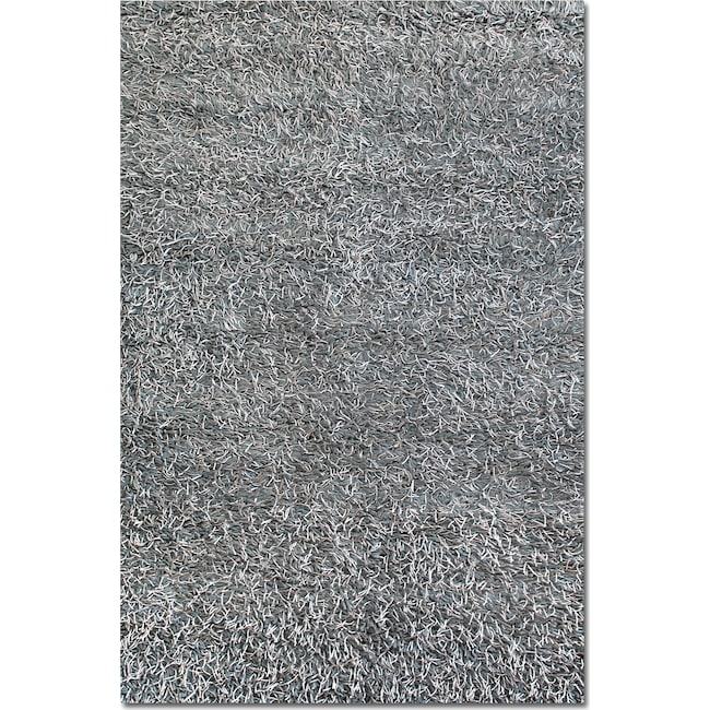 Rugs - Lifestyle Steel Shag Area Rug (5' x 8')