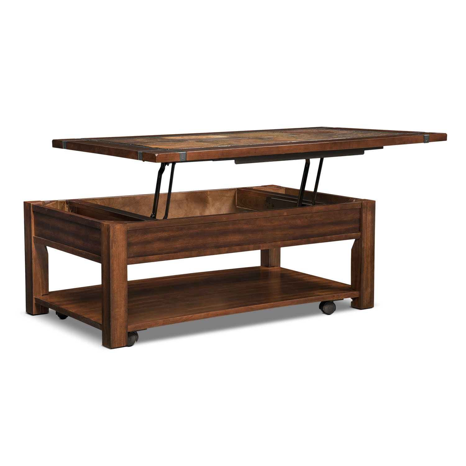 Home Kitchen Furniture Living Room Furniture Tables Coffee Tables . - Roanoke Rectangular Lift Top Cocktail Table With Casters Cherry
