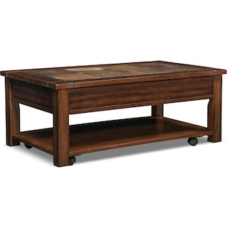 Slate Ridge Lift-Top Cocktail Table - Cherry