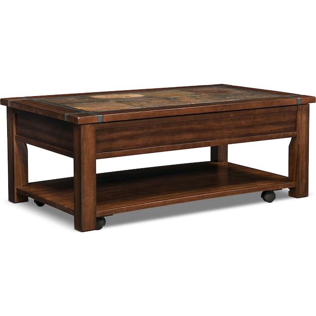 Accent and Occasional Furniture - Slate Ridge Lift Top Coffee Table