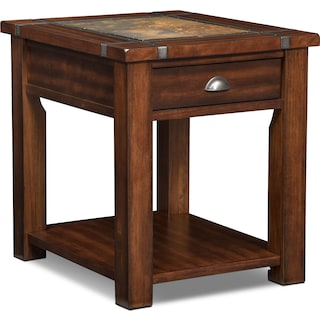 Slate Ridge End Table - Cherry