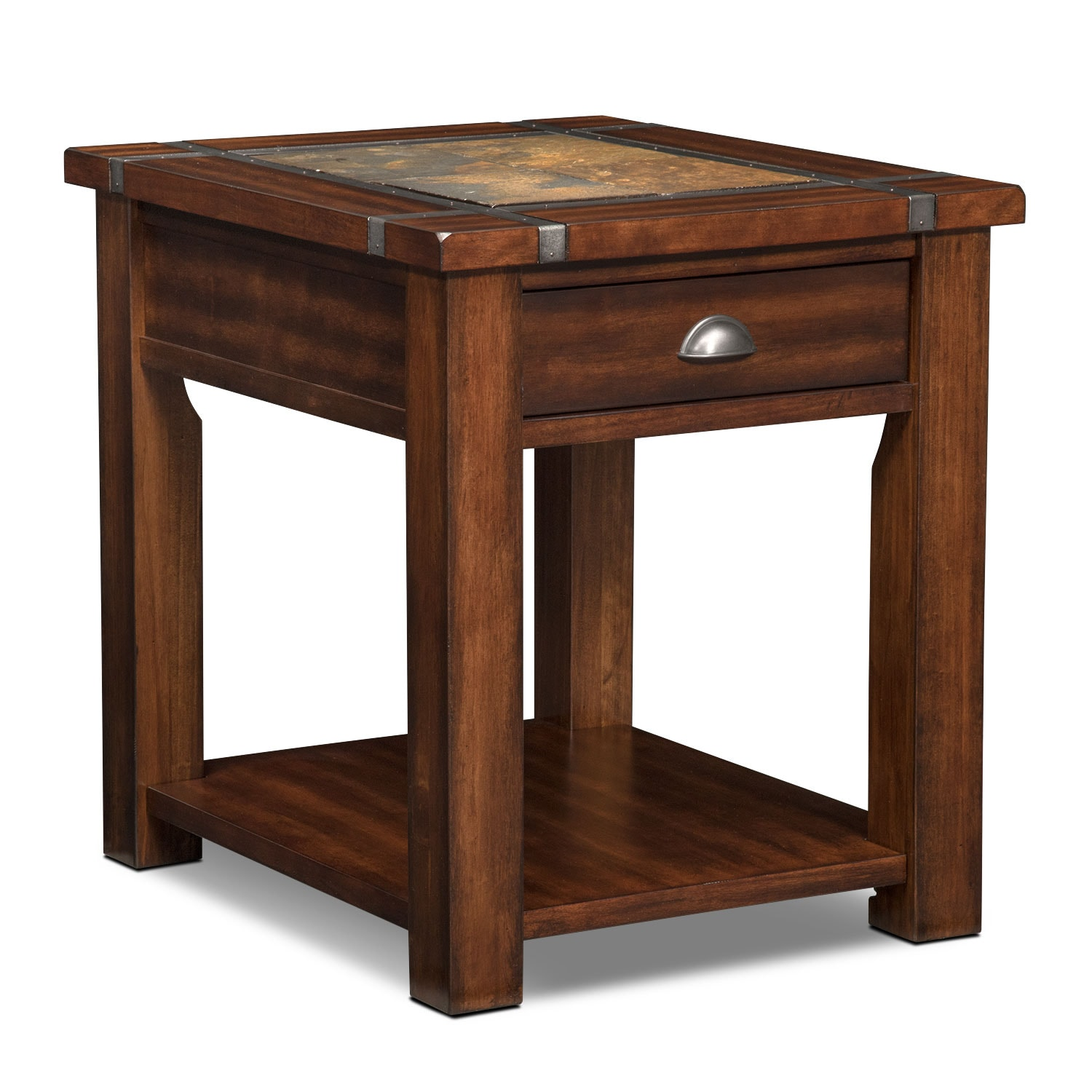 Accent And Occasional Furniture   Slate Ridge End Table   Cherry