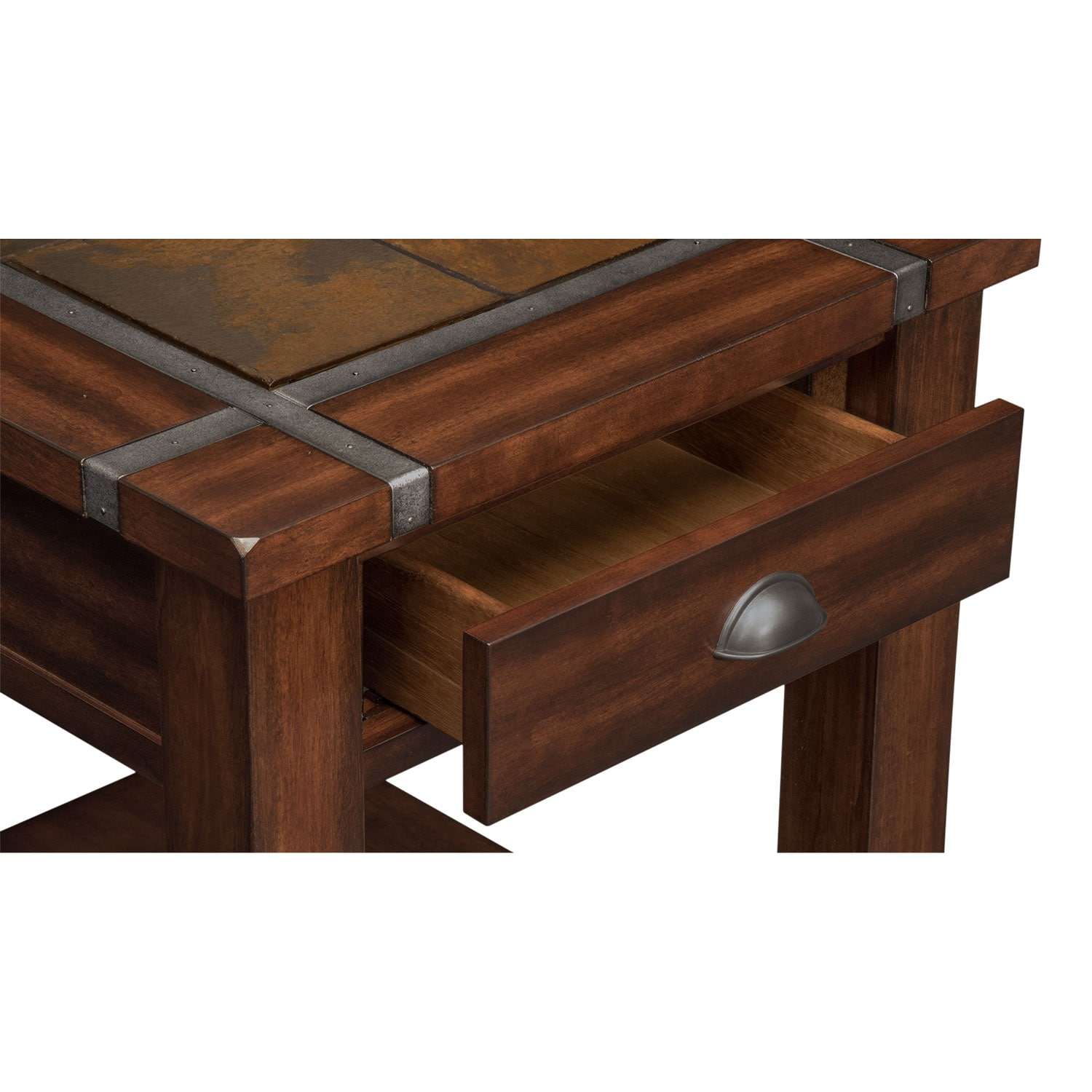 Slate Ridge End Table Cherry