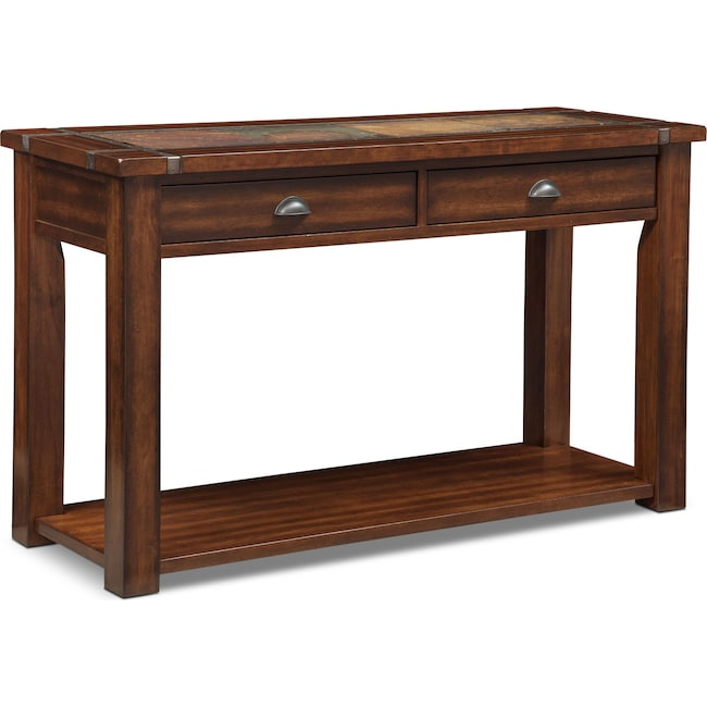 Accent And Occasional Furniture Slate Ridge Sofa Table Cherry