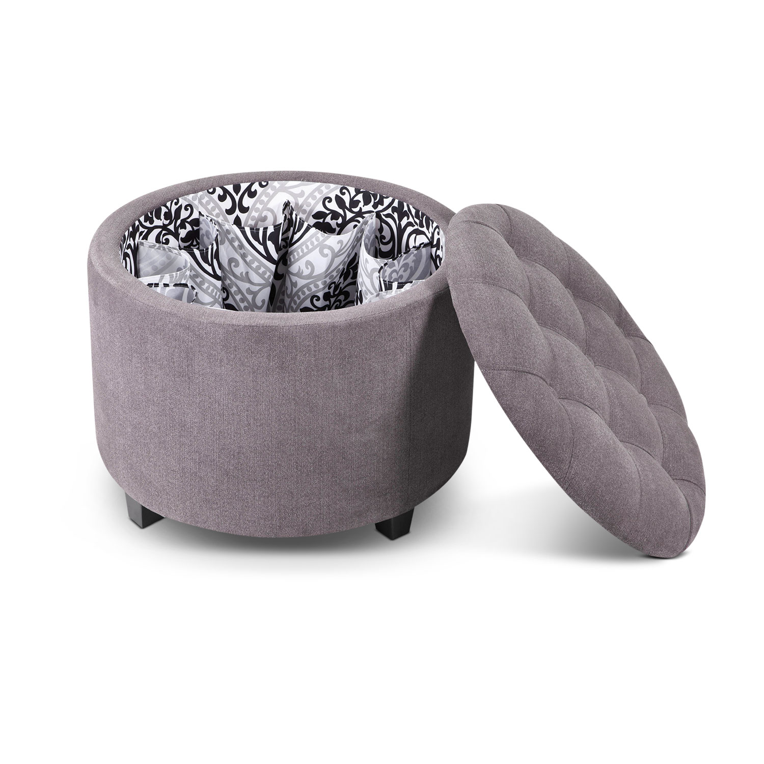 Living Room Furniture - Lisbon Storage Ottoman